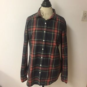 J Crew  Plaid Perfect Shirt