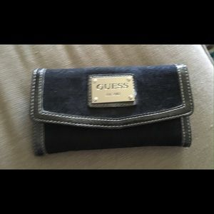 Guess Handbags - Guess Black Cloth Wallet Trifold Great Condition