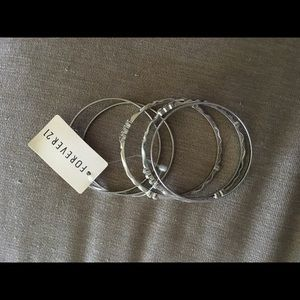 Forever 21 Jewelry - Brand New Forever 21 Silver Bangle Bracelets