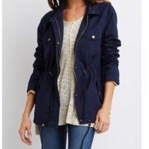Laundry by Shelli Segal Jackets & Blazers - Laundry Navy Blue Anorak Windbreaker Rain Jacket