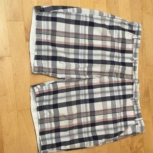 Roundtree & Yorke Other - Men's plaid flat front golf shorts