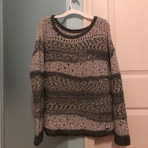 Knit grey sweater