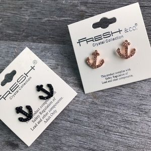 Jewelry - 🎉🎉 $10 SALE!  Rose gold anchor earrings