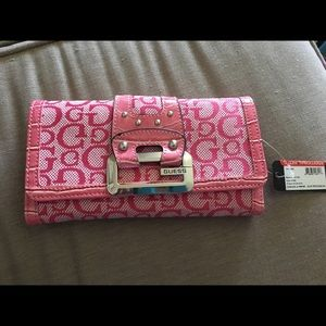 Guess Handbags - Brand New Pink Guess Wallet & Checkbook Cover