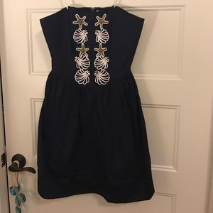 NWOT Lilly Pulitzer MAYFIELD Navy strapless dress