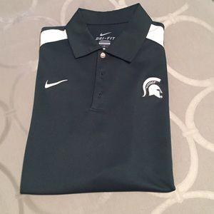 Nike Other - Men's Nike Michigan State Spartan Polo, Dri-Fit!