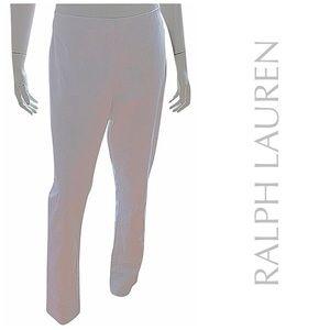 NEW RALPH LAUREN white dress pants tapered leg 14