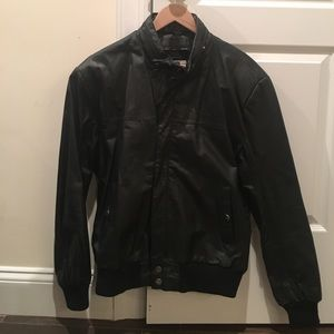 Saddlery men's leather jacket
