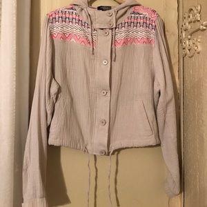 Torrid Jackets & Blazers - Torrid Embroidered Cropped Jacket Plus Size 1X