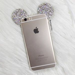 B-Long Boutique  Accessories - ❤️SALE❤️ rhinestone ears iPhone 6 7 - Plus case
