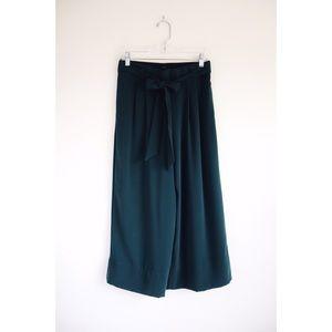 Zara Emerald Green Culottes size M - NWOT