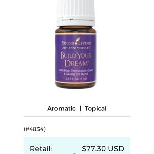 Other - Build your dreams essential oil
