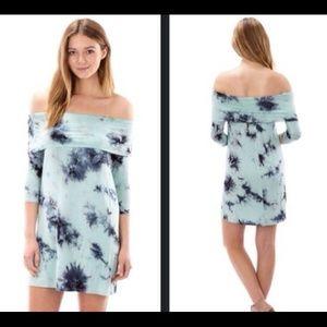 The Blossom Apparel Dresses & Skirts - 👗HOST PICK👗THE SHOULDER TYE DYE DRESS