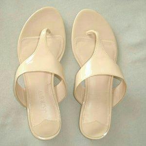 J Crew Patent Thong Sandal