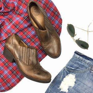 Nurture Shoes - Nurture Shey Brown Western Festival Ankle Booties
