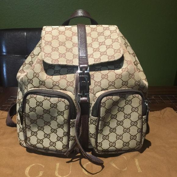 39c7ecf4c477 Gucci Handbags - Gucci Authentic Backpack