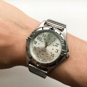 Speidel Accessories - Silver tone Speidel Advance watch