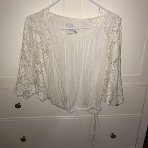 "Blue Life Tops - Lace ""Winged"" Top"