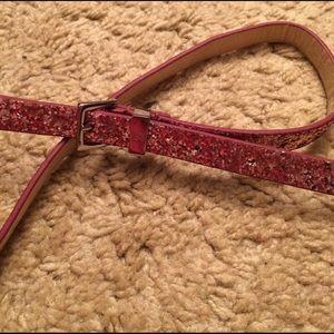 New York & Company Accessories - NY&C Pink Glitter Belt