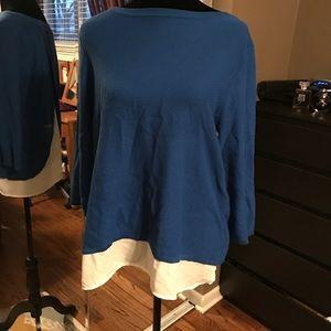 High low The Limited chiffon tunic