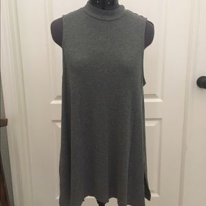 Tops - Gray mock turtle neck