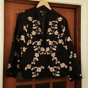 Carole Little Jackets & Blazers - Black and gold Jacket