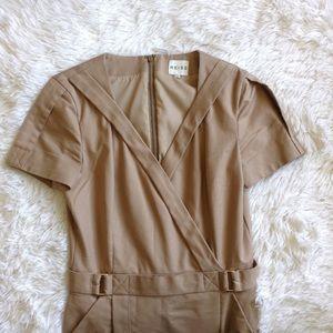 Reiss Dresses & Skirts - REISS beige safari faux wrap short sleeve dress