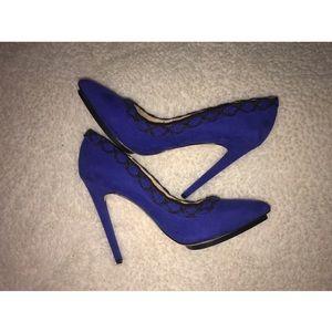 GX by Gwen Stefani Shoes - Black and Blue Gwen Stefani Heels