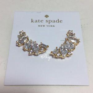 KATE SPADE CLUSTER CRAWLER EARRINGS