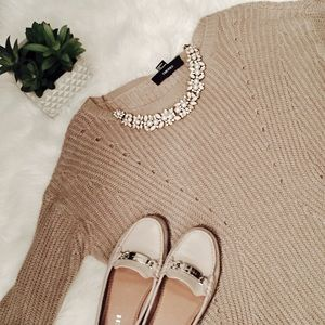 Tan Forever 21 Knit Sweater