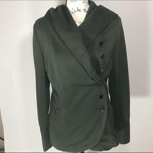 Market & Spruce Jackets & Blazers - Market & Spruce Olive Hooded Jacket