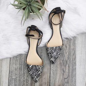 Banana Republic Shoes - •Black & White d'Orsay Flats•