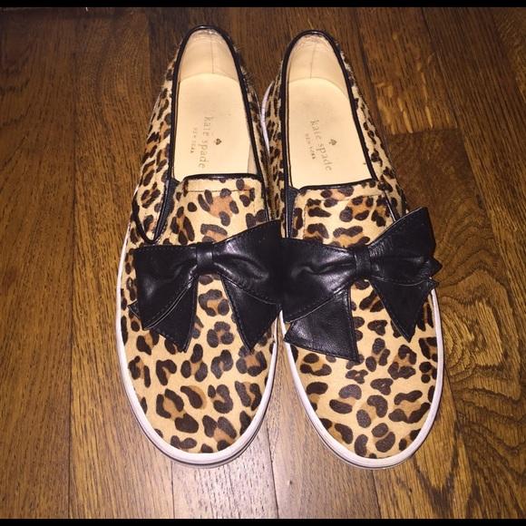 360b074452db kate spade Shoes - kate spade delise leopard-print bow slip-on