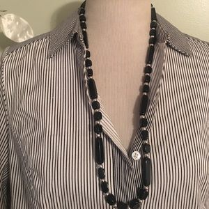 TRIFANI BLACK & SILVER NECKLACE