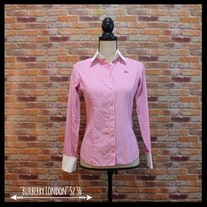 Burberry Tops - Burberry London Blue Label Striped Button Down