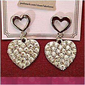 InEveryCorner Jewelry - 30% OFF BUNDLES❤️Crystal Heart Shaped Earrings❤️
