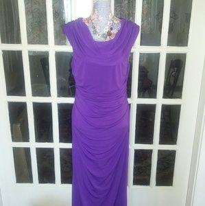 Spense Dresses & Skirts - Spense Petites Drap Neck Maxi Dress NWT
