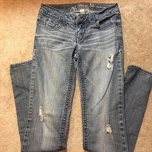 Refuge Distressed Jeans Sz 0.