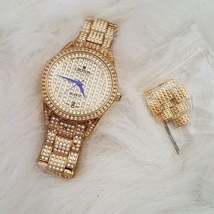 Croton Accessories - CROTON Gold And Rhinestone watch.