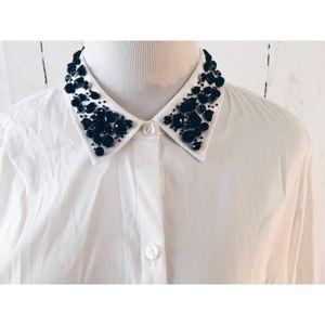 ann taylor Tops - ❗️Ann Taylor BF Button Down Embellishment Collar14