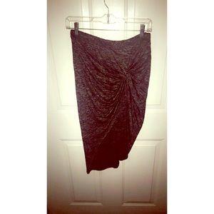 stella luce Dresses & Skirts - Final SALE 💖Grey/black knee length draped skirt