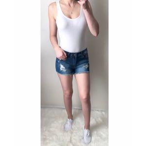 Tops - BRIA White V-neck Bodysuit