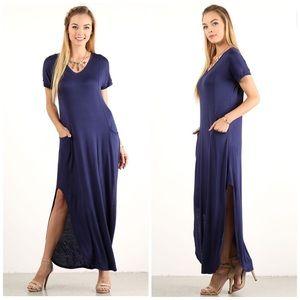 Dresses & Skirts - Navy Maxi Dress