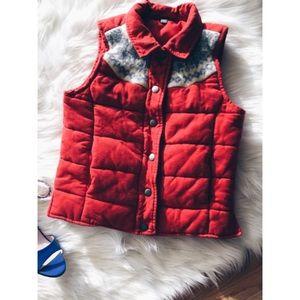 Rubbish Jackets & Blazers - Rubbish Burnt Orange Padded Snow Flake Vest XS