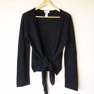 S Tie-Front Cashmere Cardigan Soft Surroundings