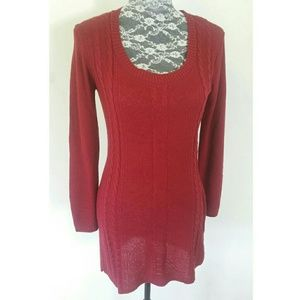 Dresses & Skirts - Red Light Weight Sweater Dress
