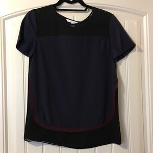 Diane Von Furstenberg Colorblock Top