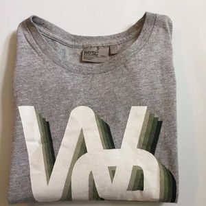 Wesc Other - Mens WeSC Gray/Green Graphic Logo Tee Size Small
