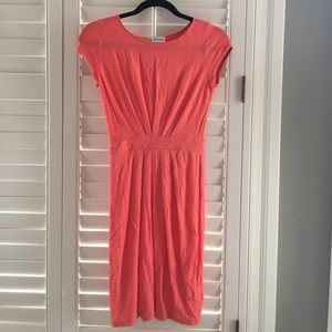 Ava & Aiden Dresses & Skirts - Orange pleated dress