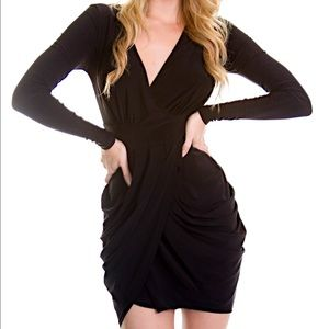 Dresses & Skirts - Black Draped Dress